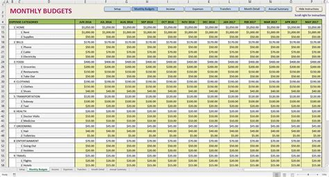 monthly income statement excel template and sle