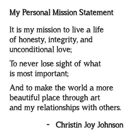 mission statement exle my style