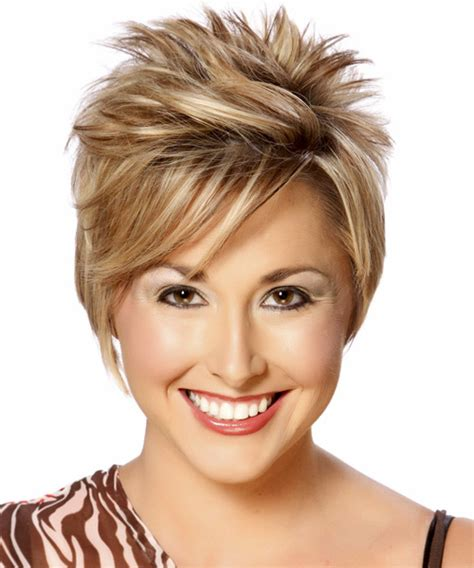front view of side swept hairstyles short straight formal hairstyle with side swept bangs