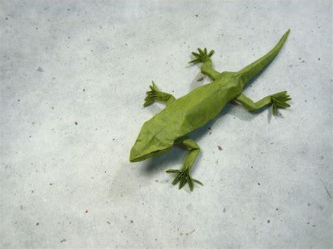 Origami Lizard - frog gecko lizard salamander