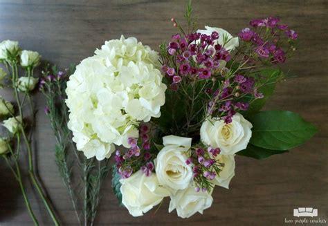 how to make floral arrangements step by step diy mason jar flower arrangement with kroger roses two