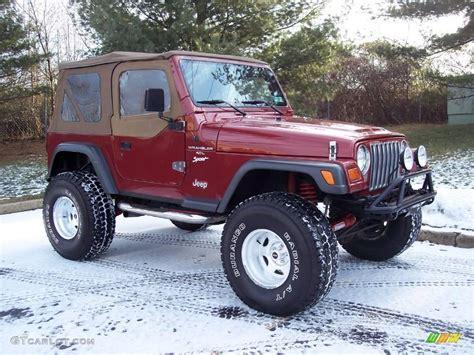 1998 chili pepper pearl jeep wrangler sport 4x4 24588935 photo 18 gtcarlot car