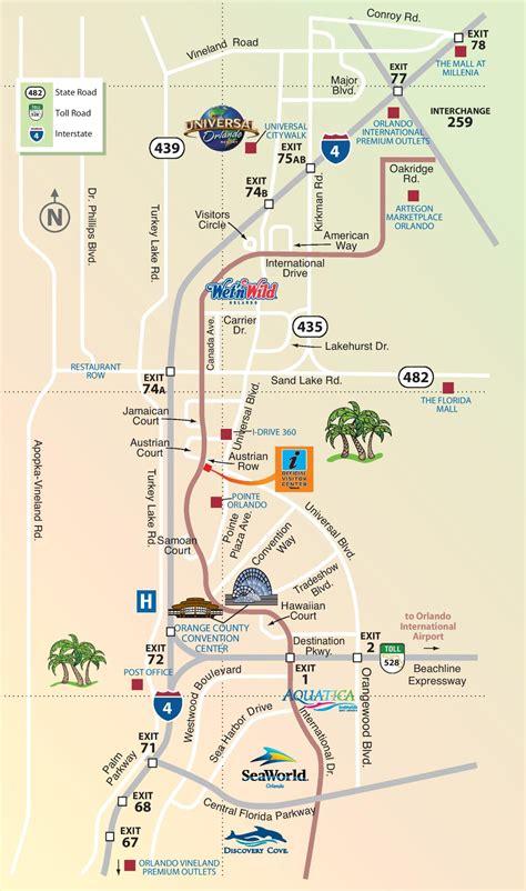 orlando map usa map of international drive orlando florida image