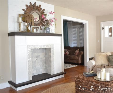 diy faux fireplace how i built our fireplace the