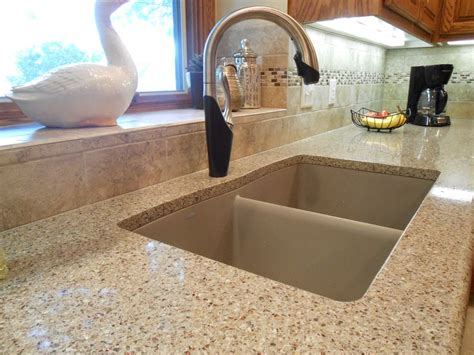 quartz countertop with undermount sink kitchen remodel includes samsung radianz quartz