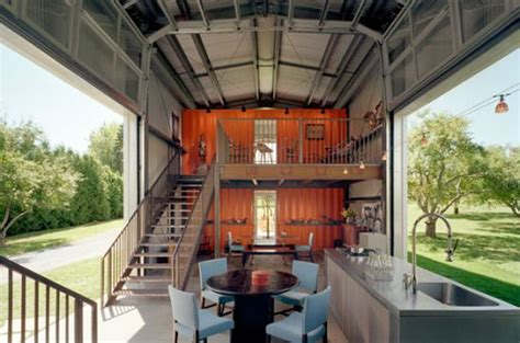 witty interior shipping container homes