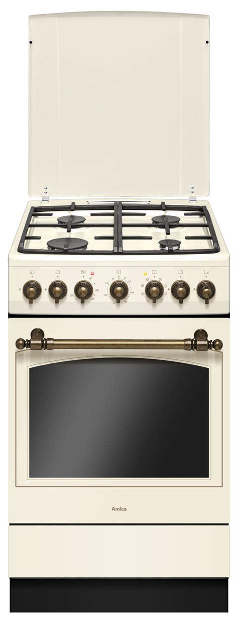 firma amica kuchnia wolnostojąca gazowo elektryczna retro 515ge2