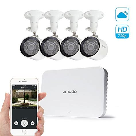 zmodo smart poe 720p hd security system 4 x 720p