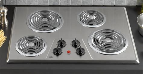 30 in electric cooktop ge appliances jp328skss 30 quot built in electric cooktop