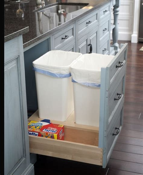 trash recycle bin inside cabinet for the home
