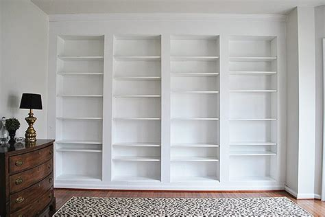 diy built in custom bookshelves using ikea billy bookcases