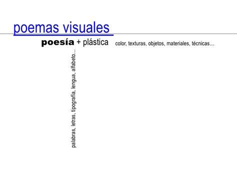 imagenes visuales en la poesia poemas visuales