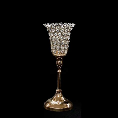 Gold Candle Holders Tulip Candle Holder 13 Inch Gold