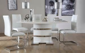 White Gloss Dining Room Furniture Komoro White High Gloss Dining Table With 6 Perth White Chairs Only 163 599 99 Furniture Choice