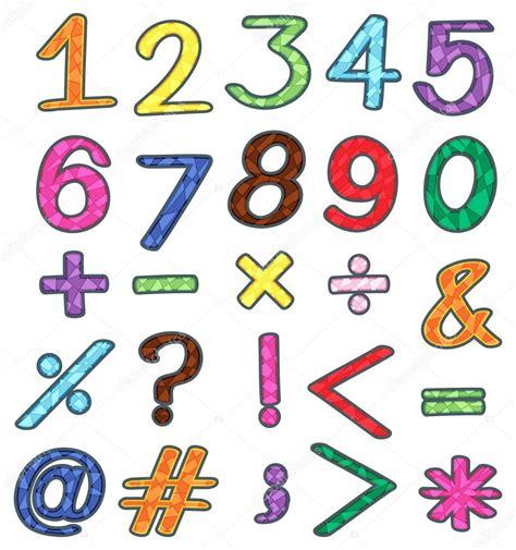 imagenes de operacion matematicas coloridos n 250 meros y operaciones matem 225 ticas vector de