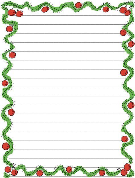 printable christmas note paper free blank notebook paper printable clipart best