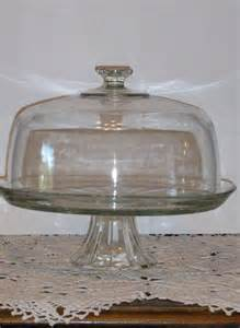 Vintage Cake Pedestal Vintage Glass Pedestal Cake Stand With Dome Cover
