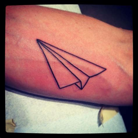 tattoo of paper plane 80 cool airplane tattoos