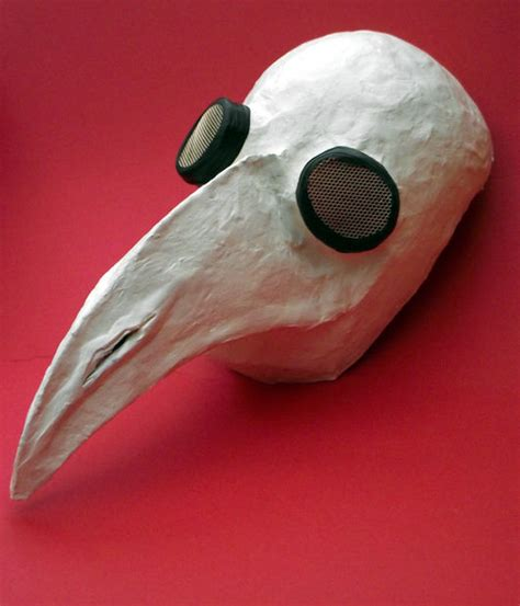 How To Make A Plague Doctor Mask With Paper Mache - plague doctor mask for 3 steps with pictures