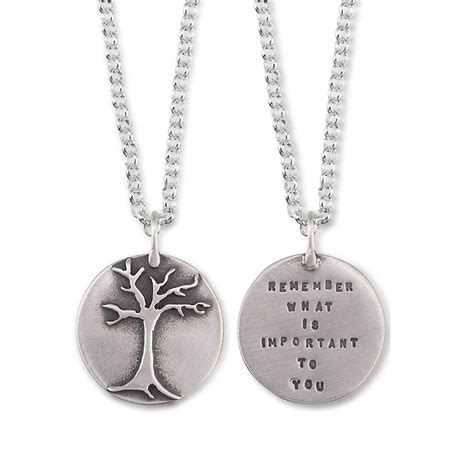jewelry inspiration remember what is important to you necklace quote jewelry