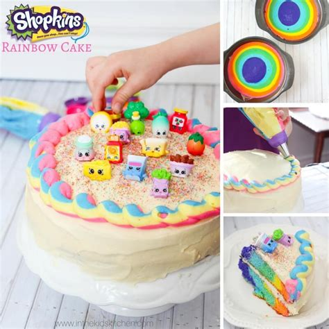 Rainbow Shopkins Cake Recipe   In the Kids' Kitchen