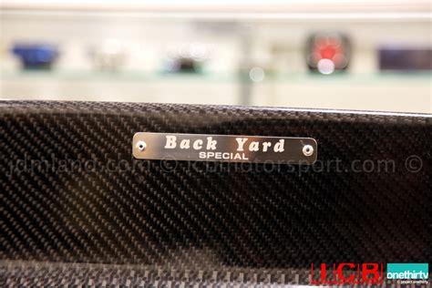 backyard special wing backyard special bys eg6 hatchback roof spoiler frp