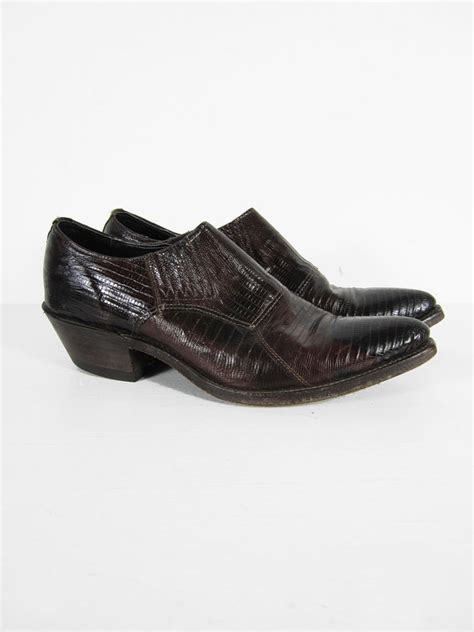 vintage cutoff cowboy boots low cut oxblood leather ankle