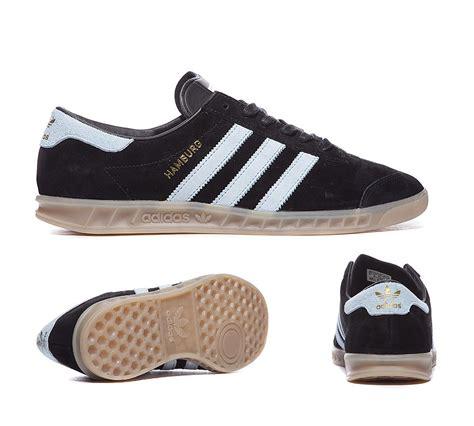 Adidas Hamburg Black Blush Blue mens vintage shoes adidas originals hamburg trainer