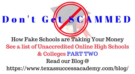 texas success academy accredited high school diploma don t get scammed by fake online schools accredited