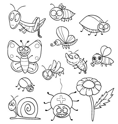 preschool coloring pages bugs coloring book with insects vector preschool ideas