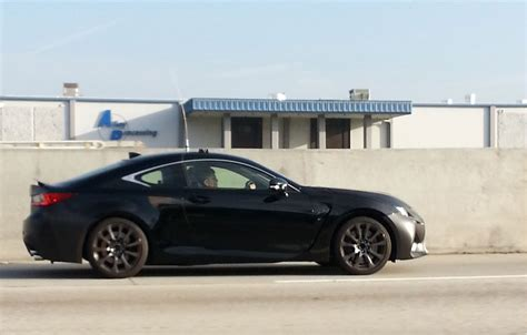 black lexus lexus rc f black side