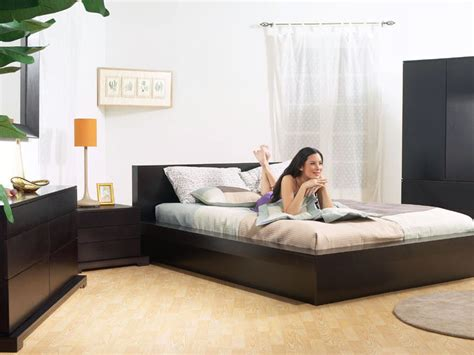 Fremont Bedroom Collection Contemporary Bedroom The Trestles Platform Bed And Bedroom Set In Cappuccino