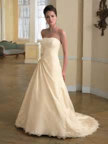 strapless champagne wedding dress fall 2010 prlog