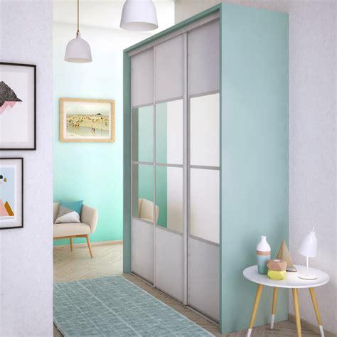 Panneau Pvc Blanc 67 by Porte De Placard Coulissante Neige Mat Miroir Spaceo L