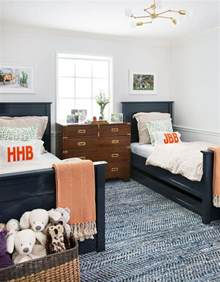 twin beds boy s room tufted headboards kids rooms double twin beds and patterned textured rug jennifer