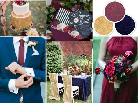 wedding colour themes navy fall wedding colors navy wine and gold wedding colors