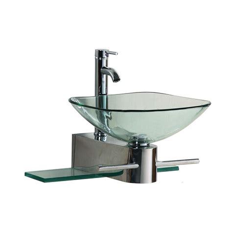 homedepot bathroom sinks kokols wall mounted bathroom sink in clear 0799861325307