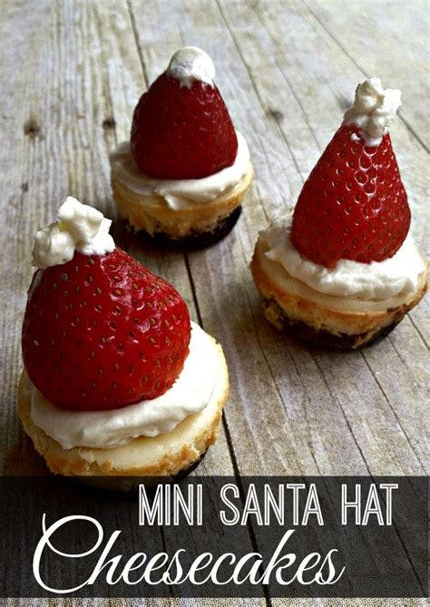 mini santa hat cheesecakes gluten free inspiration for