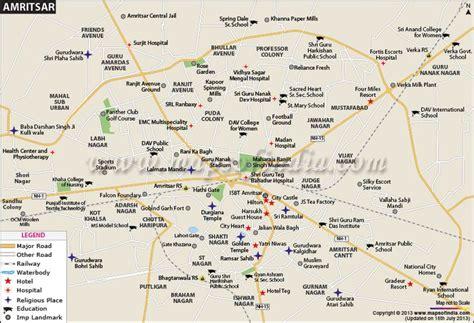 amritsar maps city map of amritsar city maps of india