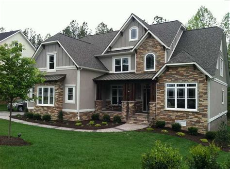 style your home craftsman style homes pictures with gray wall paint color