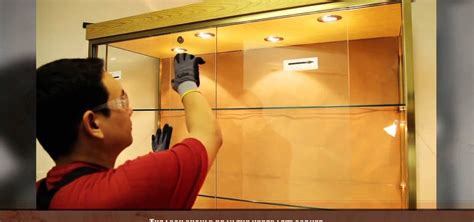 Installing Glass In Kitchen Cabinet Doors How To Install A Sliding Glass Cabinet Door 171 Construction Repair