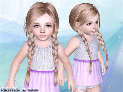 sims 3 toddler hair skysims hair 163