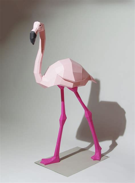 3d origami flamingo flamingo papercraft kit flamingo bird and animal