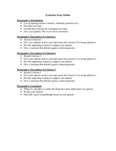 Evaluation Essay Outline by Search Results For Narrative Essay Outline Calendar 2015