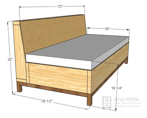 Diy Sofa Plans by White Storage Sofa Diy Projects