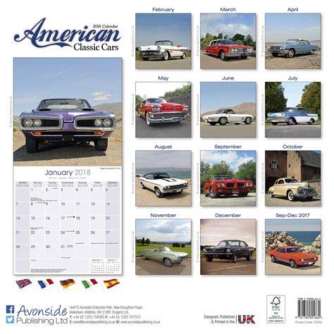 Calendar 2018 Cars American Classic Cars Calendar 2018 30264 18 Car Calendars