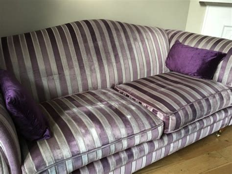 striped velvet sofa laura ashley gloucester sofa in striped velvet for sale in