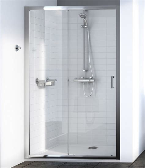 1000mm Shower Door Aqualux Source 1000mm Sliding Shower Door 1192605