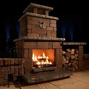 Rockwood Stone Outdoor Fireplace and Fire Ring Kits and
