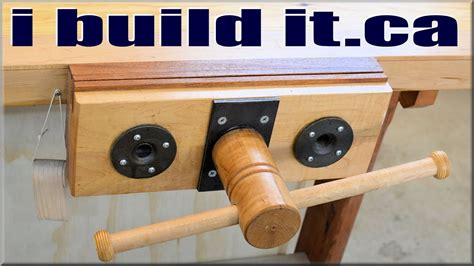 homemade woodworking vise youtube